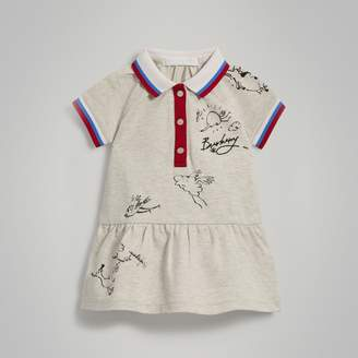 Burberry Stretch Cotton Polo Dress , Size: 18M