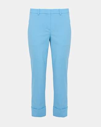 Theory Stretch Wool Crop Cuff Pant