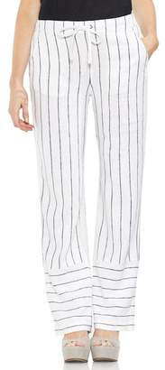 Vince Camuto Pinstripe Linen Blend Drawstring Pants