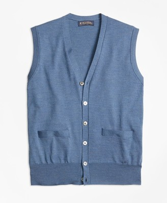 Brooks Brothers BrooksTech Merino Wool Button-Front Vest