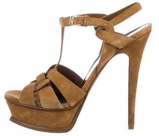Saint Laurent Tribute Suede Sandals