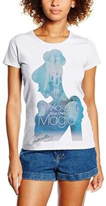 Disney Women's Princess Filled Sillhouette Cinderella T-Shirt,8 (Manufacturer Size:Small)