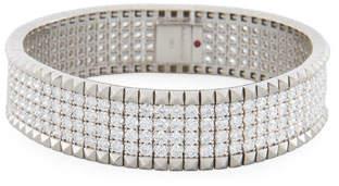 Roberto Coin Rock & Diamonds 18K White Gold Bangle