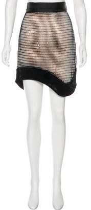 Antonio Berardi Perforated Knee-Length Skirt w/ Tags