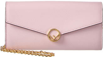 Fendi Leather Continental Wallet On Chain