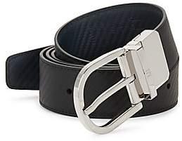 Dunhill Men's Reversible Leather Buckle Belt
