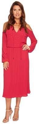 MICHAEL Michael Kors Embellished Cold Shoulder Dress Women's Dress
