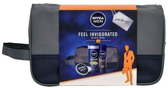 Men Feel Invigorated Skincare and Wash Bag Gift Set