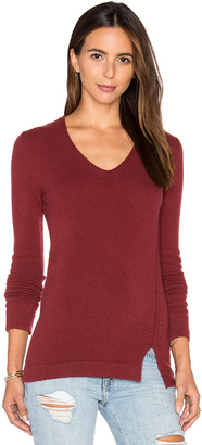 Inhabit Side Slit V Neck Sweater $352 thestylecure.com