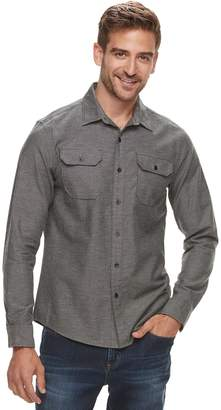 Apt. 9 Men's Brushed Nep 2-Pocket Woven Button-Down Shirt