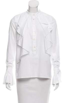 Robert Rodriguez Draped Button-Up Top w/ Tags