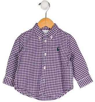 Ralph Lauren Boys' Gingham Print Shirt w/ Tags