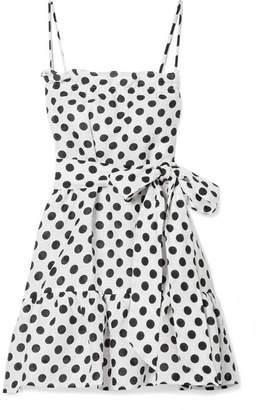 Lisa Marie Fernandez Liz Polka-dot Linen Mini Dress - White