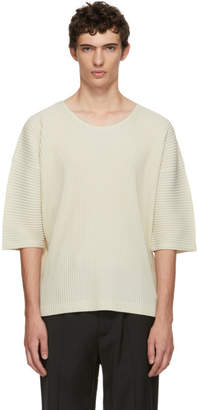Issey Miyake Homme Plisse White MC July T-Shirt