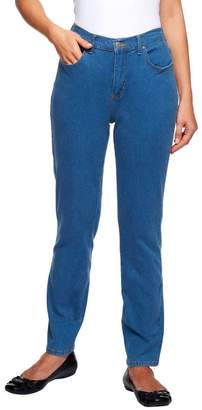 Denim & Co. Petite Slim Leg Classic Waist 5-Pkt Stretch Pants