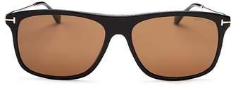 Tom Ford Max Square Sunglasses, 57mm