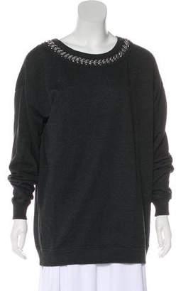 AllSaints Long Sleeve Embellished Sweater