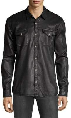 John Varvatos Coated Cotton Western Shirt