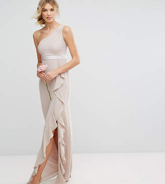 TFNC Tall One Shoulder Maxi Dress With Frill Detail