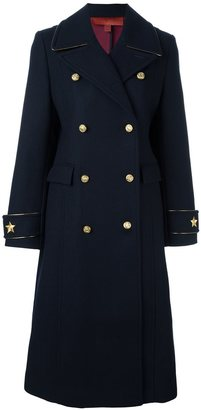Tommy Hilfiger long double breasted coat $1,021 thestylecure.com