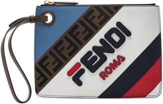 Fendi x FILA Small Logo Pouch in White & Multicolor | FWRD