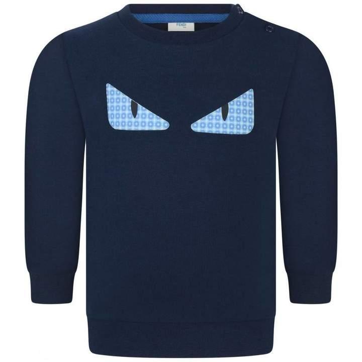 FendiBaby Boys Navy Monster Sweater