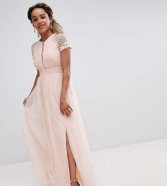 Little Mistress Petite Embellished Bodice Maxi Dress