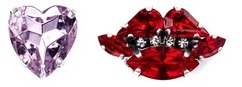 Anton Heunis Anton Heunis Heart and lips asymmetric stud earrings