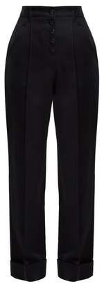 A.P.C. Georgianna High Waist Cotton Trousers - Womens - Navy