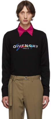 Givenchy Black Wool Signature Logo Sweater
