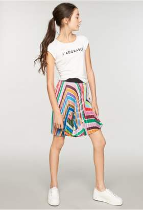 Milly Minis Rainbow Stripe Pleated Skirt