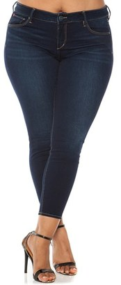 Plus Size Women's Slink Jeans Stretch Ankle Skinny Jeans $98 thestylecure.com