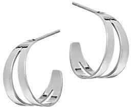 Lana Double Flat Huggie Hoop Earrings