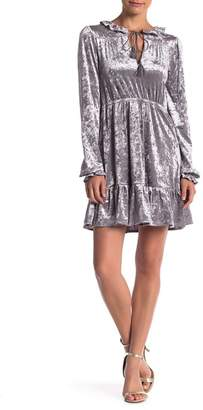 Romeo & Juliet Couture Velvet Tie Neck Dress