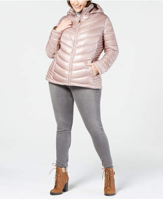 Calvin Klein Plus Size Hooded Down Puffer Coat