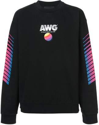 Alexander Wang retro slogan print sweatshirt