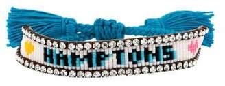 Shourouk Hamptons Crystal & Tassel Bracelet
