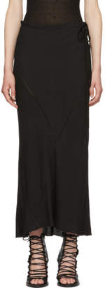 Ann Demeulemeester Black Long Jersey Skirt