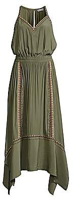 Ramy Brook Women's Felicity Studded Blouson Handkerchief Dress