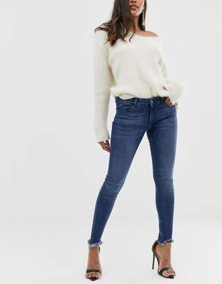 DL1961 Emma skinny jean with raw hem