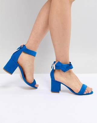 Ted Baker Kerrias Blue Suede Cobalt Block Heel Sandal