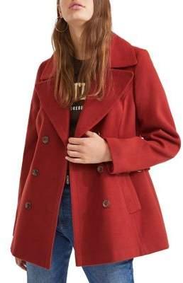 Miss Selfridge Button Front Military Coat