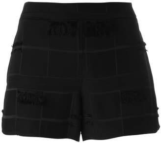 Versace frayed trim shorts