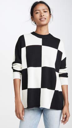 Autumn Cashmere Check Cashmere Pullover