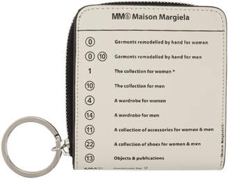 MM6 MAISON MARGIELA White Logo Wrap Zip Wallet