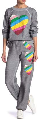Wildfox Couture Love Hearts Easy Sweats Sweatpants