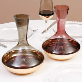 Dibor Smoked Glass Amethyst And Gold Decanter Selection