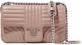 Prada Quilted Leather Shoulder Bag - Beige