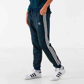 adidas Men's Tartan Jogger Pants