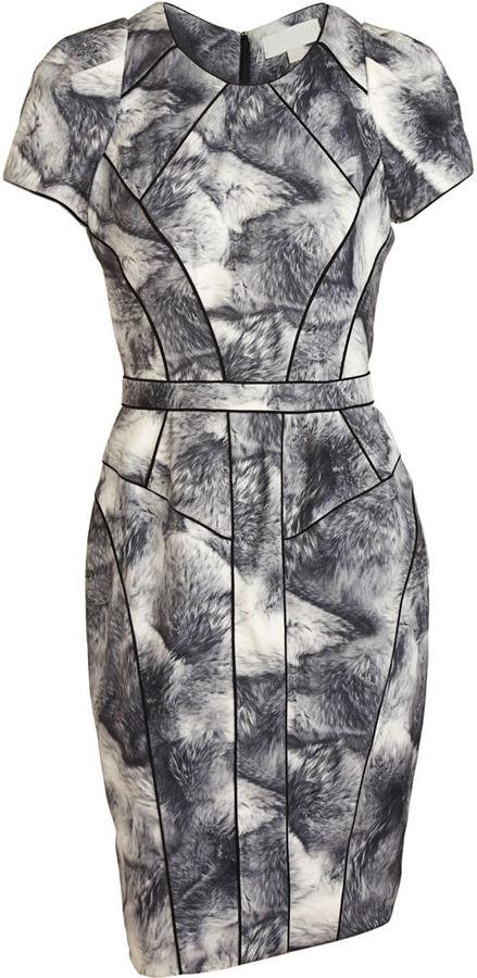 Bensoni Fur Print Sheath Dress